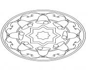 Print mandala christmas 22 coloring pages