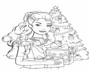 Printable barbie princess christmas coloring pages