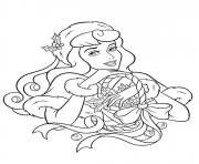 Printable princess christmas 01 coloring pages