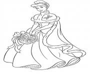 Printable princess christmas 02 coloring pages