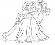 Printable princess christmas 06 coloring pages