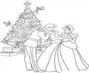 Printable princess christmas 08 coloring pages