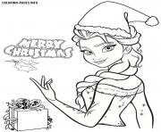 Christmas Princess Coloring Pages Free Printable