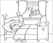 Printable kid sleep christmas for kids 27 coloring pages