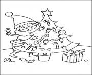 Print tree christmas for kids 03 coloring pages