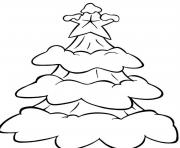 free s christmas snow in a tree 273f coloring pages