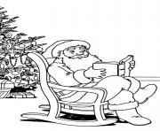 Printable christmas santa claus with tree 82 coloring pages