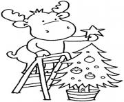 Printable christmas tree for children coloring pages