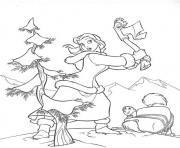 Printable belle wants a christmas tree coloring pages