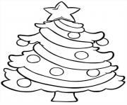 Christmas Tree Easy Coloring Pages