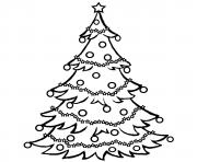 Printable christmas tree free coloring pages