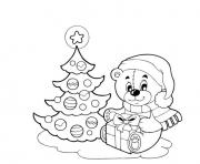 Printable tree and doll christmas e1ed coloring pages