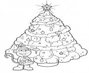 Printable boots christmas tree coloring pages