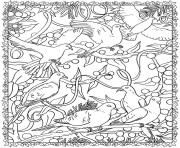 Printable adult christmas birds coloring pages
