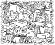 adult christmas gifts coloring pages