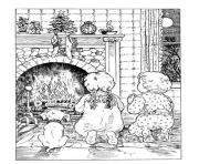 Printable christmas adults traditional 04 coloring pages
