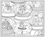 adult christmas crystal ball coloring pages