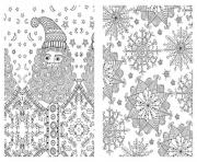 Printable advanced christmas xmas for adults  coloring pages