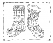 Printable christmas adults sotcking 3  coloring pages