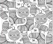 Printable christmas design adults  coloring pages