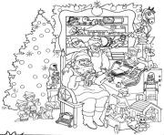 Printable christmas adults santaclaus  coloring pages