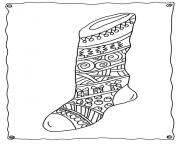 Printable christmas adults sotcking 4  coloring pages