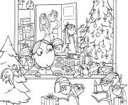 Printable for adults christmas family  coloring pages