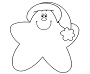 Printable Christmas Star Coloring Sheets coloring pages