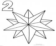 Printable Christmas Star Countdown coloring pages