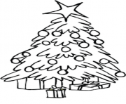 Printable Free Coloring Christmas Tree coloring pages