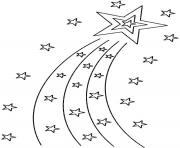 Printable Shooting Star coloring pages