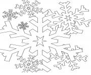 Print Snowflake 1 coloring pages