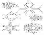 Printable Snowflake 5 coloring pages