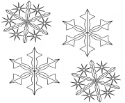 Printable Christmas Snowflake coloring pages