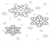 Print Printable Snowflake 1 coloring pages