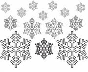 Print Printable Snowflake coloring pages