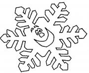 Printable Snowflake for Kids coloring pages