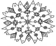 Print Snowflake coloring pages