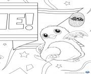 Printable Hatchy hatchimals kids coloring pages