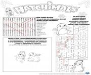 hatchimals hatch game solutions coloring pages
