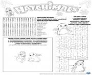 Printable hatchimals hatch game coloring pages