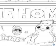 Printable Hatchy hatchimals draggles coloring pages