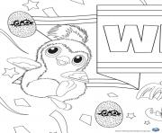 Printable Hatchy hatchimals penguala pink coloring pages