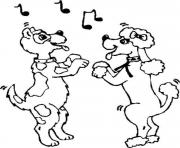couple dancing dog scc57 coloring pages
