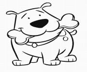 of cartoon dogs4346 coloring pages