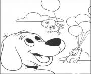 dog with balloons 12f0 coloring pages