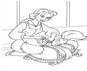 Printable belle and the dog disney princess 1658 coloring pages