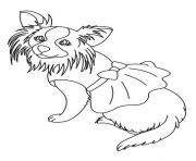 Printable A Dog In Dress 342f Coloring Pages