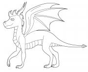 Print spyro the dragon coloring pages