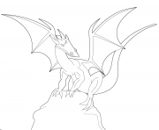 dragon looks suspicious coloring pages